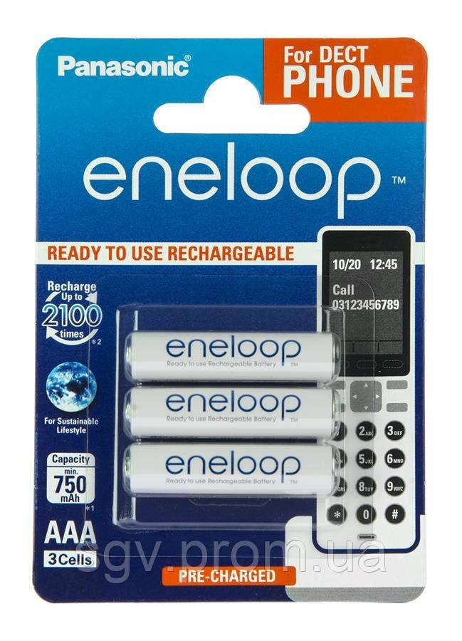 Аккумуляторы Panasonic Eneloop AAA [750 3BP mAh NI-MH]