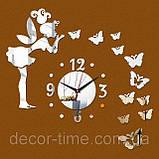 Оригінальні інтер'єрні безкаркасні настінний годинник на стіну 0923254, фото 4