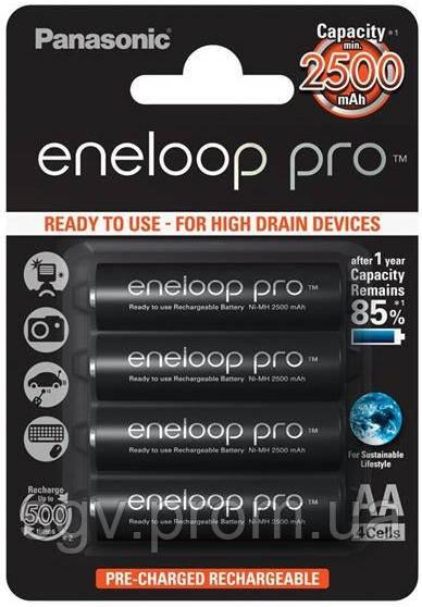 Аккумуляторы Panasonic Eneloop Pro AA 2500 mAh 4BP
