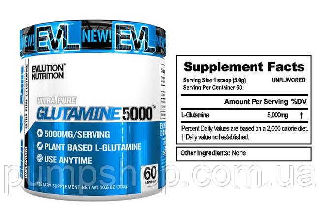 Глютамин Evlution Nutrition Glutamine 5000 300 г, фото 2
