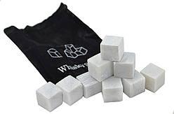Камни для Виски Whiskey Stone (белые) 9 камней + мешочек для хранения