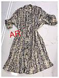 Женское платье плиссировка со звериным принтом (2 цвета), фото 2