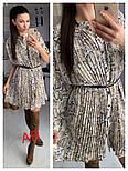 Женское платье плиссировка со звериным принтом (2 цвета), фото 6