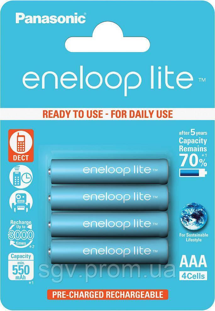 Аккумуляторы Panasonic Eneloop Lite AAA [550 4BP mAH NI-MH]