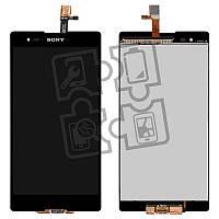 Дисплейный модуль (дисплей + сенсор) для Sony Xperia T2 Ultra D5303, D5322, черный, оригинал