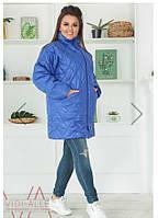 Женская куртка-пальто с бусинками синтепон 150, фото 1