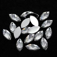 Акриловый листик Crystal 6*12.Цена за 1шт