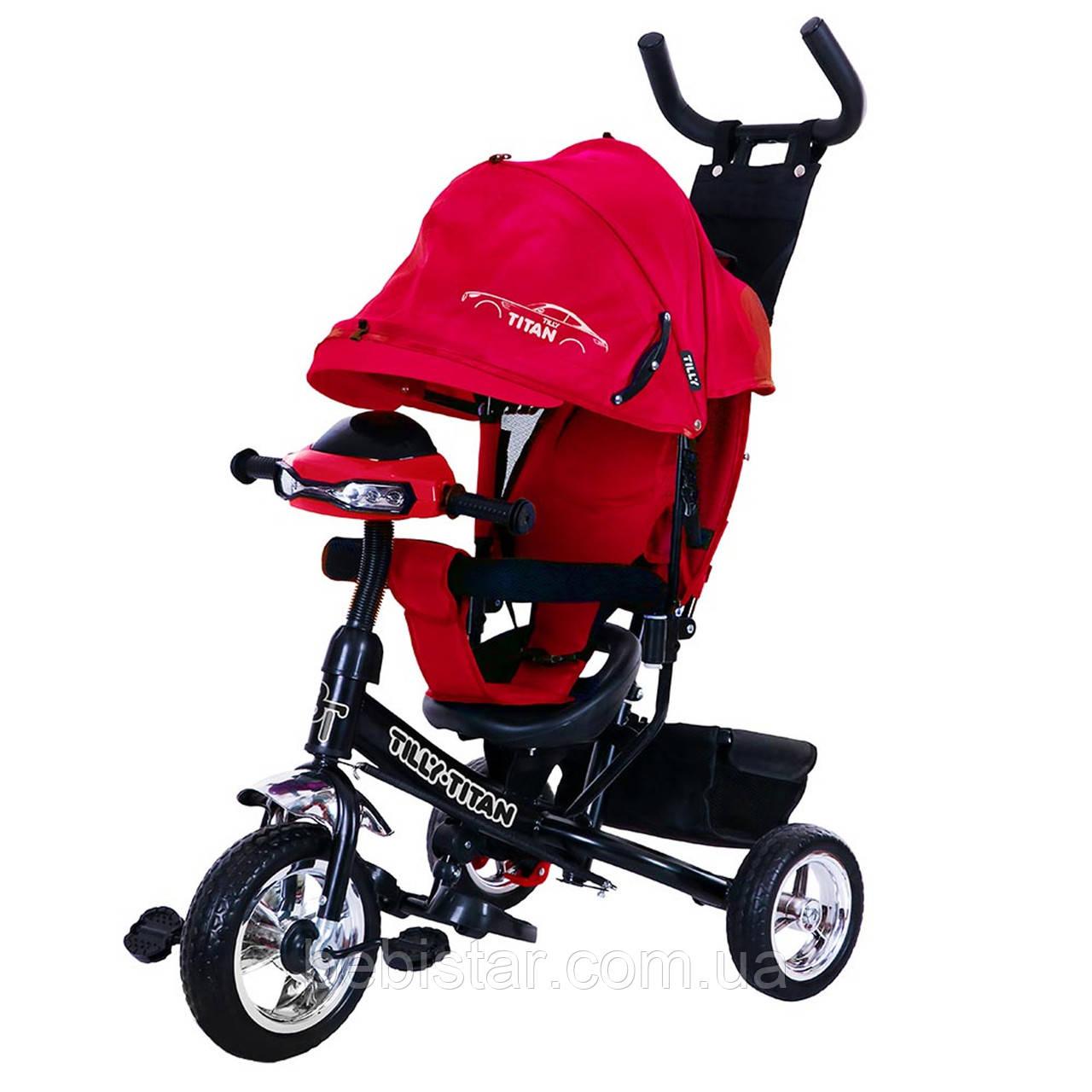 Трехколесный велосипед красный TILLY TITAN T-348 музыка и свет
