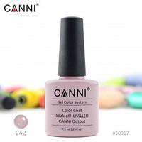Гель-лак CANNI № 242 (бледный розовато-серый), фото 1