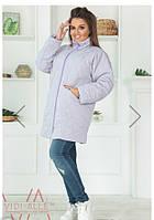 Женская куртка-пальто с бусинками синтепон 150