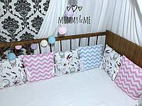 Бортики - защита в кроватку на три стороны кроватки