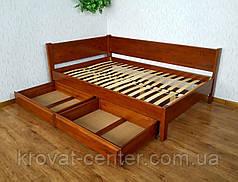 """Кутова двоспальне ліжко з масиву дерева від виробника """"Шанталь"""", фото 3"""