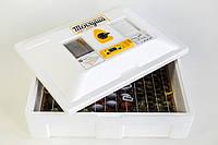 Инкубатор Теплуша с мех переворотом и Влагомером на 100 яиц Тэновый  220/50 ТМВ, фото 1