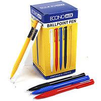 Ручка кулькова автоматична Economix MERCURY. Корпус асорті. Пише синім.