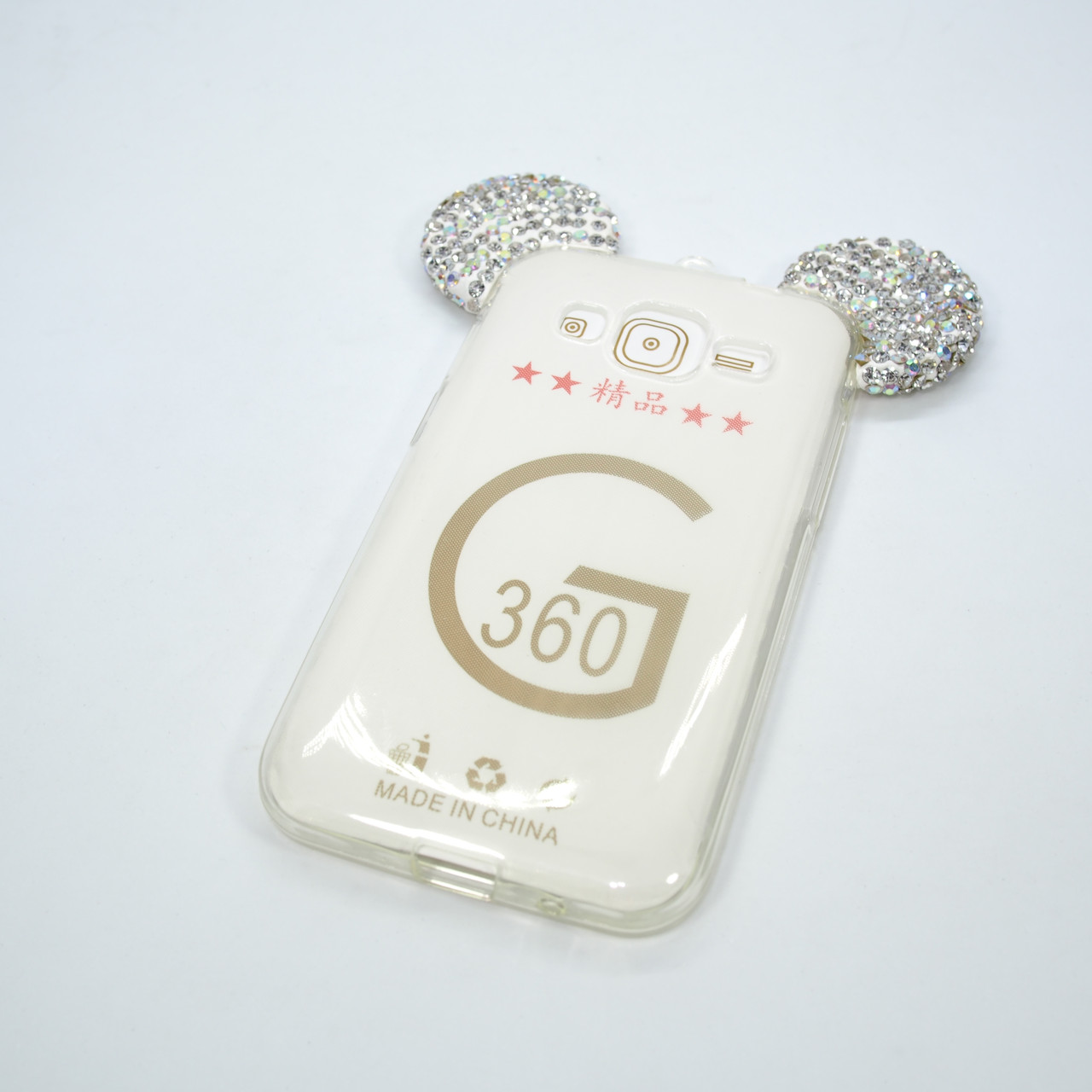 Чехол Silicon Mickey Diamond Samsung Galaxy G360