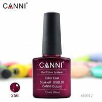 Гель-лак CANNI № 256 (глиттерный темно-красный), фото 1
