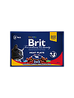 Brit Premium Cat pouch 100g *4шт - м'ясна тарілка паучи в соусі 4 смаку для кішок ( 100277 /506248 )