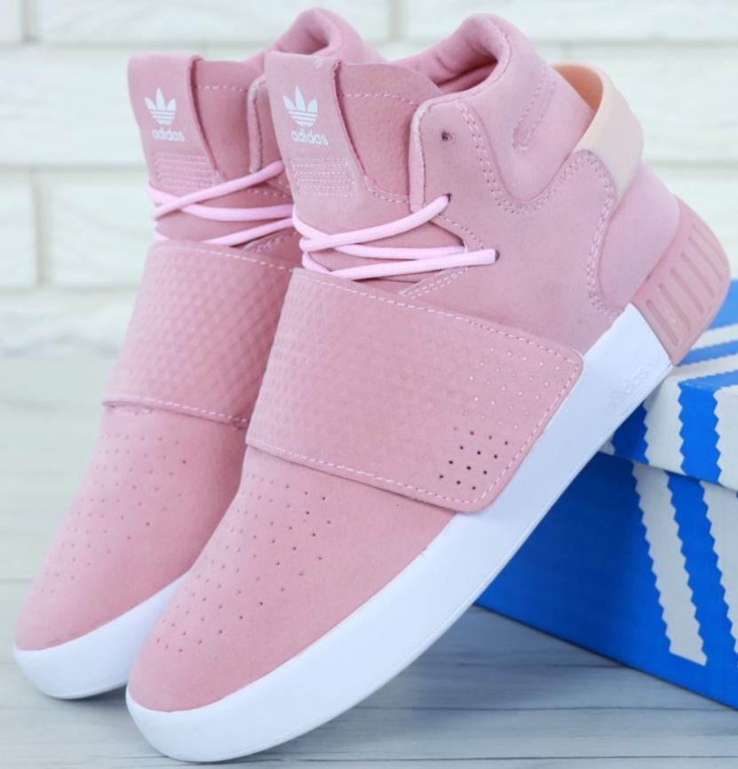Кроссовки женские Adidas Tubular Invader Pink, адидас тубулар розовые