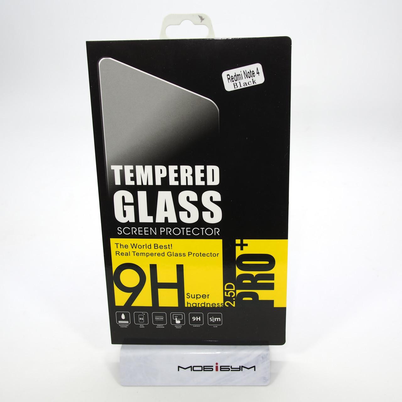 Защитное стекло Xiaomi Redmi Note 4 black