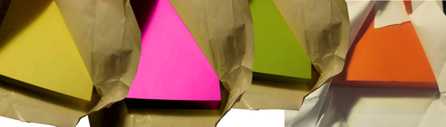 Объявления на цветной односторонней бумаге, ризография на цветной бумаге