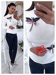 Женская  стильный свитер качество люкс РАЗНЫЕ ЦВЕТА (Фабричный Китай)  Код В606-1035