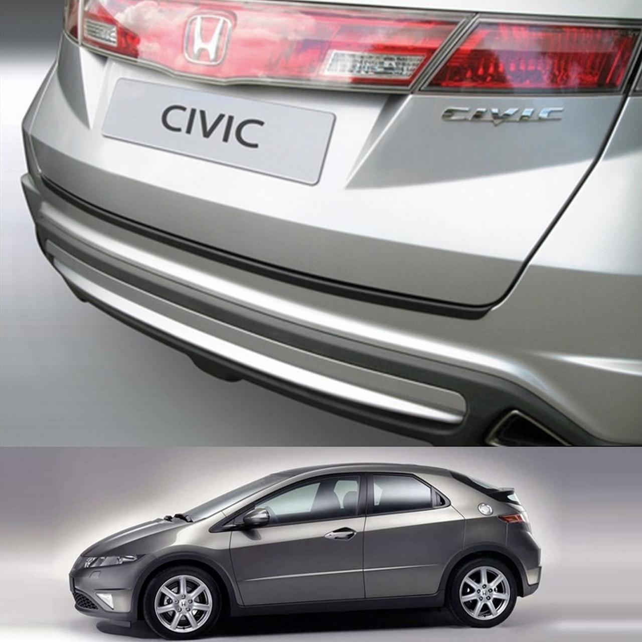 Honda Civic 2006-2011 пластиковая накладка заднего бампера