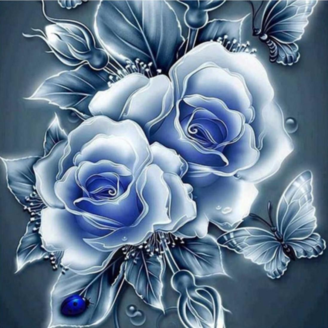 """Алмазная вышивка 30×30см - набор """"Английские розы - 3"""""""