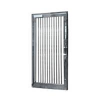 Стандартная полноростовая аварийная дверь 2300х1107х80, шлифованная нержавеющая сталь AISI 304