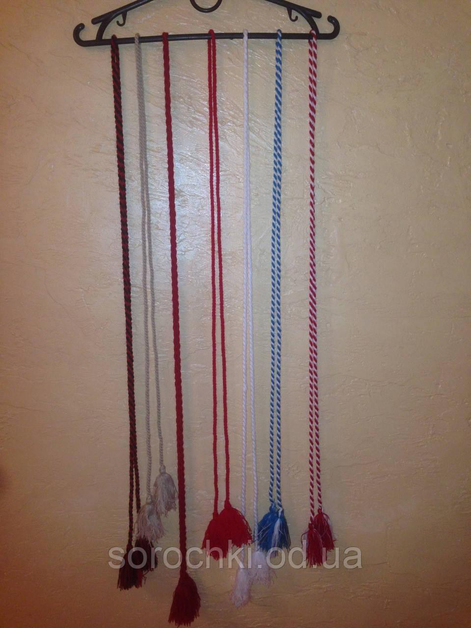 Пояса для вышиванок, красный , белый , голубой ,бордовый ,красный с белым ,красный с черным