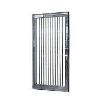 Стандартная полноростовая аварийная дверь 2300х1107х80, полированная нержавеющая сталь AISI 304