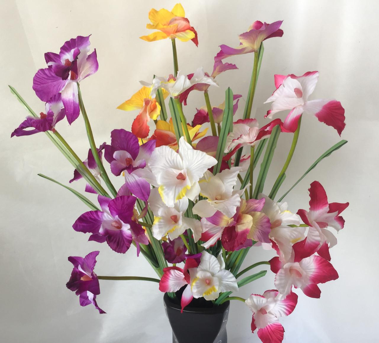 Орхидея Искусственная  8 цветков