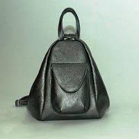 Рюкзак-сумка кожаный женский MODENA никель