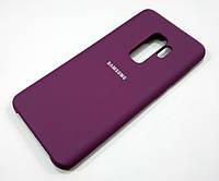 Чехол Silicone Case Cover для Samsung Galaxy S9 Plus G965 пурпурный