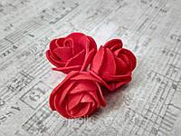 Бутон розы из фоамирана, диаметр 3-3,5 см КРАСНЫЙ (в упаковке 500шт), фото 3