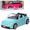 Машинка 6622-A-B  для куклы, 43см,муз,св,2 цвета,на баит(таб),в кор-ке, 46-23-19см
