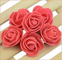 Бутон розы из фоамирана, диаметр 3-3,5 см КРАСНЫЙ (в упаковке 500шт)