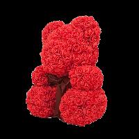 Бутон розы из фоамирана, диаметр 3-3,5 см КРАСНЫЙ (в упаковке 500шт), фото 6