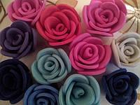 Бутон розы из фоамирана, диаметр 3-3,5 см КРАСНЫЙ (в упаковке 500шт), фото 7