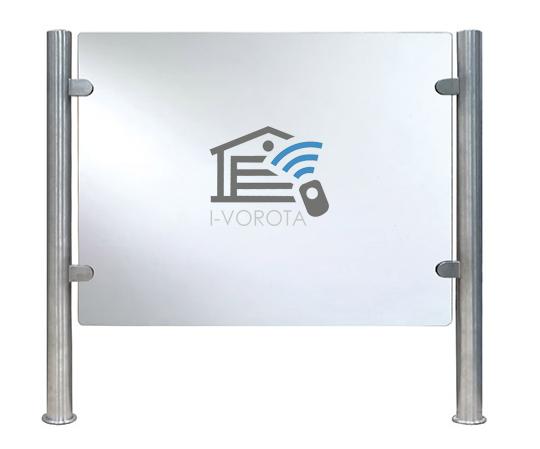 Нанесение логотипа на стекло турникета-калитки