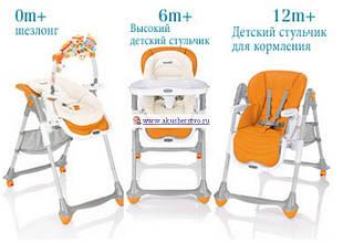 Дитячі крісла для годування і шезлонги