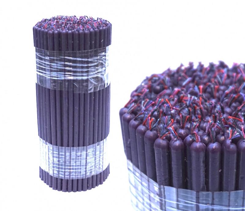 Свечи из воска 1 кг. Фиолетовые