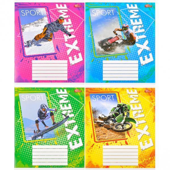Тетрадь цветная 18 листов, клетка «Экстримальный спорт»              20 штук                 2752к