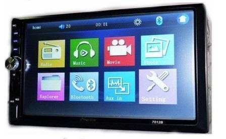 Автомагнитола 2Din Pioneer 7018 Little 7'' Экран + рамка USB Bluetoth