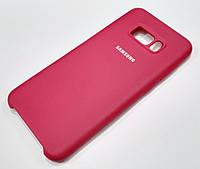Чохол Silicone Case Cover Samsung Galaxy S8 Plus G955 темно-червоний wine red