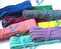 Резинка плетёная, ширина 10мм, длина 10м, 100% полиэстер. Цветная, фото 1