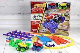 Игрушечный набор для гонок с машинками Монстр Трак (Trix Trux)