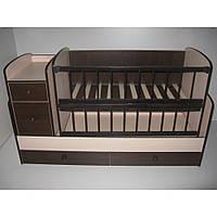Детская кроватка-трансформер Baby Sleep Angela DTP-S-B шоколад/слоновая кость