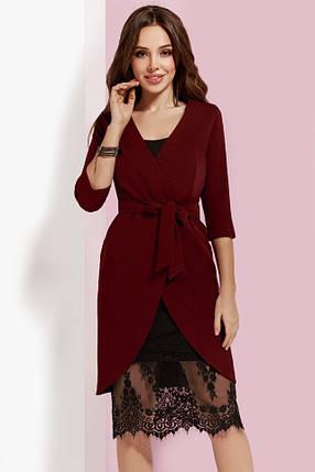 4ef49c33618d40e Бордовое платье-двойка с кружевом: Цена, материал, хорошее качество.