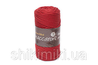 Трикотажный хлопковый шнур Cotton Filled 3 мм, цвет Красный