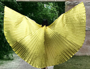 Красивые большие золотистые крылья. Крылья для вечеринки, шоу, танцев!, фото 2